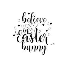 printable believe banner believe in the easter bunny lettering card hand drawn lettering