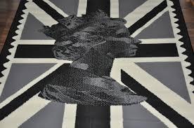 British Flag Area Rug Union Jack Rug Grey Roselawnlutheran