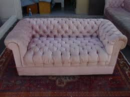 Blue Velvet Chesterfield Sofa by Fabulous Pink Velvet Chesterfield Sofa At 1stdibs