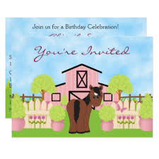 horse invitations u0026 announcements zazzle canada