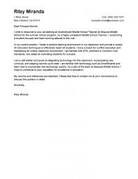 sle of email cover letter cover letter for position 21 with teaching school sle