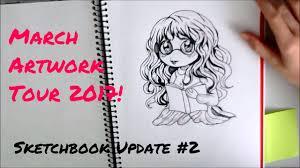 anime u0026 manga sketchbook update 2 march 2017 artwork tour youtube