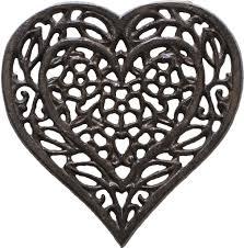 Decorative Metal Trivets Cast Iron Heart Trivet Decorative Cast Iron Trivet For Kitchen