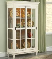 Curio Cabinet With Glass Doors Curio Cabinet With Crown Moulding Turned And Sliding Glass