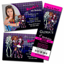 monster high birthday invitations online gallery invitation