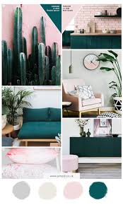 green and pink interior colour moodboard inspiration colour theme