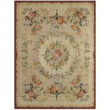 Kirman Rug Vintage Wool Floral Karastan Kirman Rug Pattern 714 Circa 1950