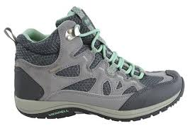 womens hiking boots uk merrell womens dove mint hiking shoes zeolite mid
