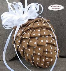 77 best quilted pinecone ornaments images on