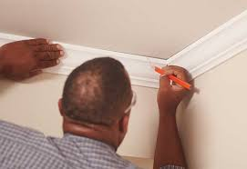 How To Fit Cornice To Ceiling How To Install Crown Moulding At The Home Depot