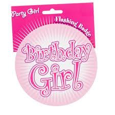 birthday girl pin birthday girl pink jumbo party badge birthday girl