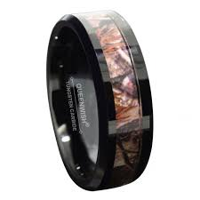 camo mens wedding band queenwish 8mm black tungsten carbide ring camo camouflage