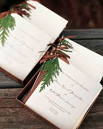 winter wedding programs classic wedding ceremony programs martha stewart weddings