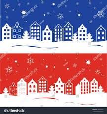 traditional european houses set two template christmas cards invitations stock illustration