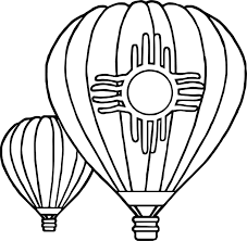 two air balloon coloring page wecoloringpage