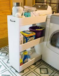 Laundry Room Storage Cart White Diy Laundry Storage Cart Featuring Infarrantly