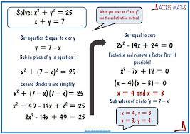 quadratic simultaneous equations 1