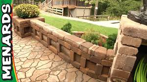 Paver Patio With Retaining Wall by Curved Wall Planter How To Build Menards Youtube