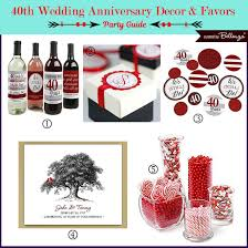 40th anniversary ideas 40th wedding anniversary party guide ruby inspired