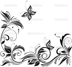 Black And White Design by Flower Designs Black White Black White Floral Design Design Images