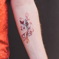 collection of 25 watercolor flower tattoo
