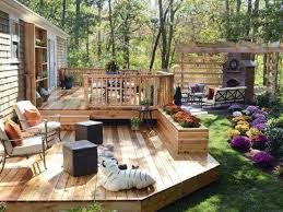 Suburban Backyard Landscaping Ideas by Small Deck Ideas Best To Apply In Suburbs Backyard With Nature