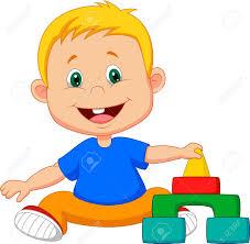 imagenes educativas animadas dibujos animados bebé jugando con juguetes educativos ilustraciones