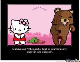 Hello Kitty Meme - hello kitty pedobear not own work by hancok54 meme center