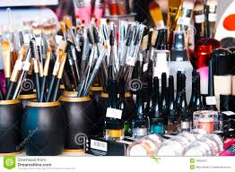professional makeup tools professional makeup brushes and eye shadows stock image image of