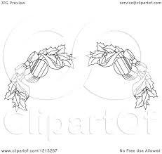 clipart of a black and white christmas holly and ornament border 2