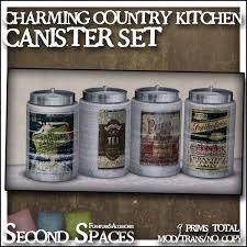 second life marketplace charming country kitchen canister set bxd