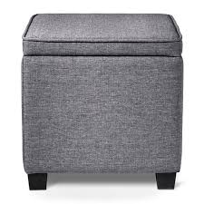 Ottoman Square Square Ottoman With Desk Gray Room Essentials Target