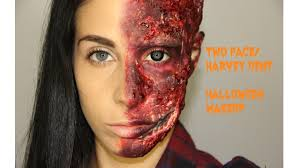 Two Face Harvey Dent Halloween Makeup Tutorial Youtube