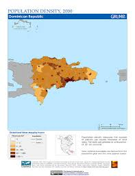 Map Dominican Republic Maps Population Density Grid V1 Sedac
