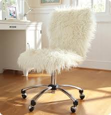 Armchair With Desk Whimsical Faux Fur Office Chair Makeover And Suddenly You Don U0027t