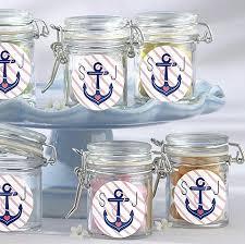 nautical wedding favors monogrammed nautical anchor glass jar wedding favor