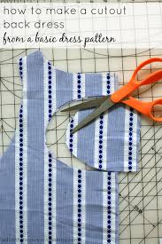 how to cut out the back of a cabinet diy cutout back dress tutorial use your favorite pattern