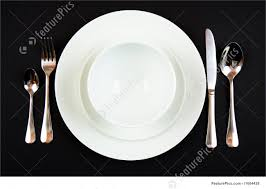 Table Settings For Dinner Kitchen Place Setting For Dinner Stock Picture I1684428 At