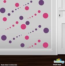 hot pink and purple circle polka dot wall decal stickers dcr5781 hot pink and purple circle polka dot wall decal stickers