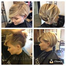 hairstyle to distract feom neck bob with hidden undercut on side and back eliminates neck hair