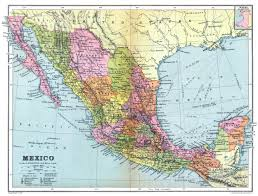 Mexico Map by Large Detailed Old Administrative Map Of Mexico With Roads And