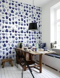 kitchen wallpaper designs ideas blue wallpaper the piped in each room interior design