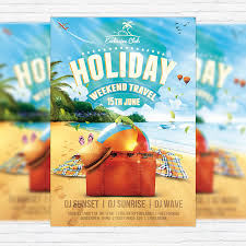 summer holiday travel u2013 flyer template facebook cover