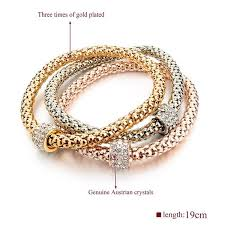 silver rose gold plated bracelet images 2016 fashion jewelry bracelets bangles real 18k gold silver rose jpg
