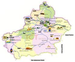 Map Of China Provinces by Xinjiang Autonomous Region China Map Of Xinjiang Cn Where Is