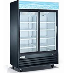 Small Commercial Refrigerator Glass Door by Amazon Com Vortex Refrigeration Commercial 2 Glass Door Black