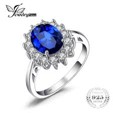 model cincin blue safir jewelrypalace princess diana 3 2 ct created blue sapphire ring 925