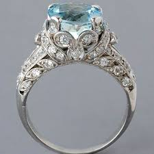 antique aquamarine engagement rings antique aquamarine ring antique edwardian engagement ring