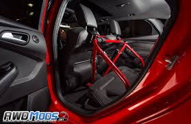 the ford agency ford focus rs st bolt in racing harness bar by agency power