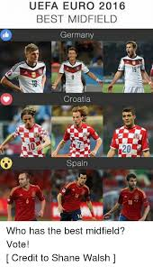 Soccer Memes Facebook - uefa euro 2016 best midfield germany nas croatia a10 20 spain who